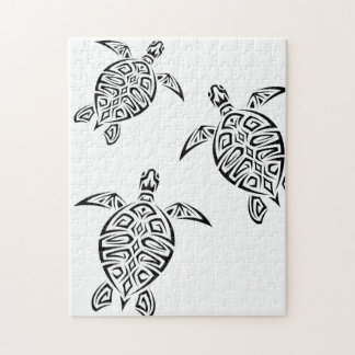 Animal tribal de Tatoo de tortues Puzzle