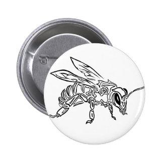 Animal tribal surréaliste de totem d'abeille de badge
