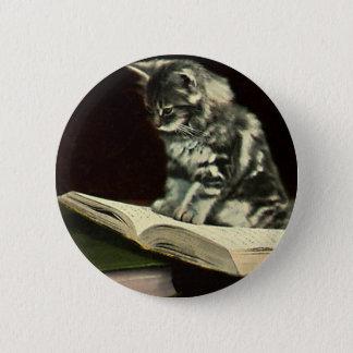 Animal vintage, livre de lecture victorien mignon badges