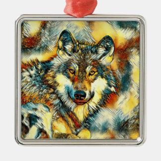 AnimalArt_Wolf_20170601_by_JAMColors Ornement Carré Argenté