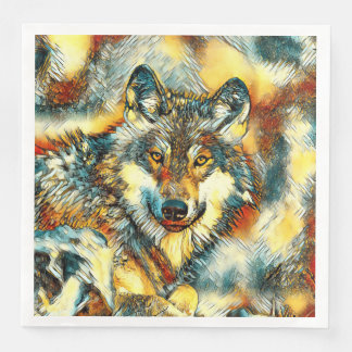 AnimalArt_Wolf_20170601_by_JAMColors Serviette Jetable