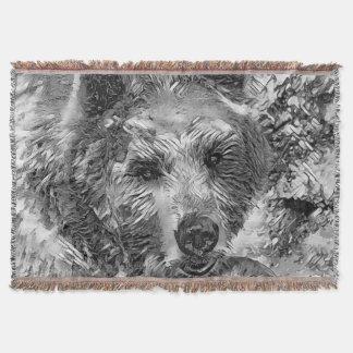AnimalArtBW_Bear_20170604_by_JAMColors Couvre Pied De Lit