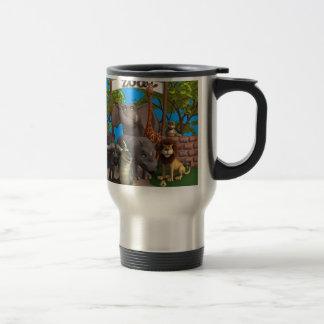 Animaux au zoo mug de voyage en acier inoxydable