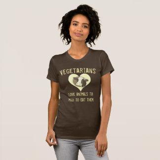 Animaux d'amour de végétariens t-shirt