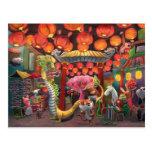 Animaux dans la ville de la Chine Cartes Postales