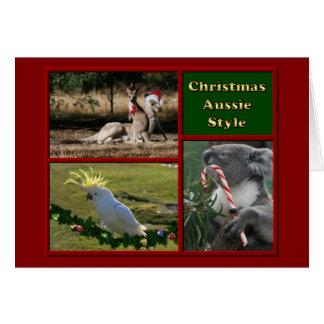 Animaux d'Australien de Joyeux Noël Cartes De Vœux