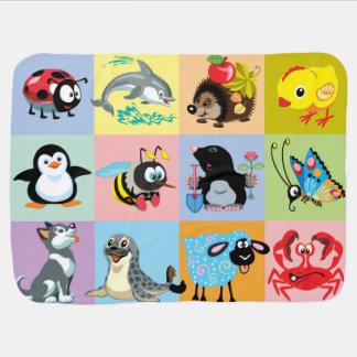 animaux de bande dessinée pour des enfants couverture de bébé