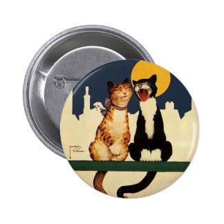 Animaux de chats chantant, drôles et idiots badge
