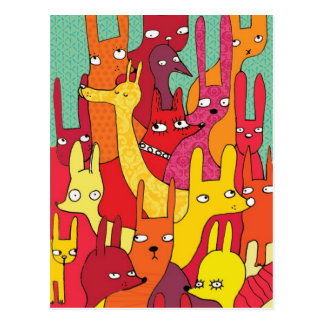 Animaux de Colorfull Cartes Postales
