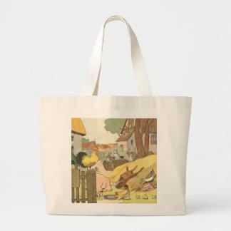 Animaux de ferme de livre de l'histoire des sacs de toile