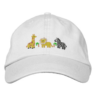 Animaux de jungle casquette brodée