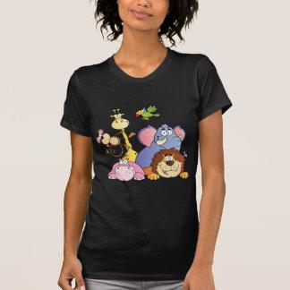 Animaux de jungle de bande dessinée t-shirt