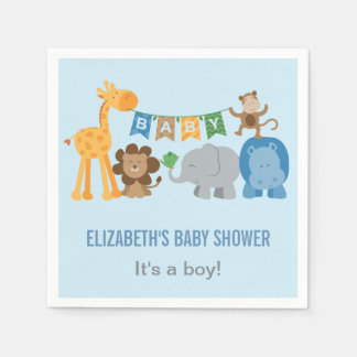 Animaux de jungle des serviettes | de baby shower serviette jetable