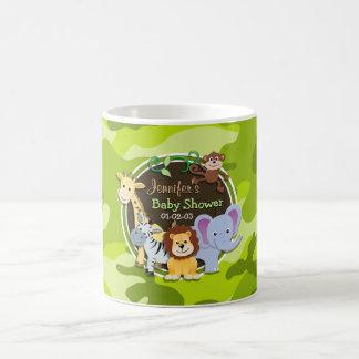 Animaux de zoo camo vert clair camouflage mug