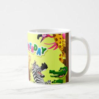 Animaux de zoo de joyeux anniversaire mug