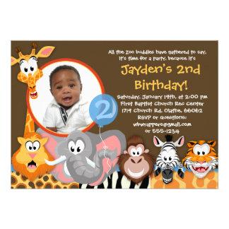 Animaux de zoo - invitation d anniversaire d anima