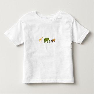 Animaux de zoo t-shirt pour les tous petits
