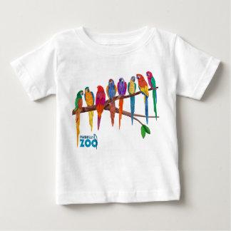 Animaux du zoo de Mabell, les perroquets T-shirt Pour Bébé
