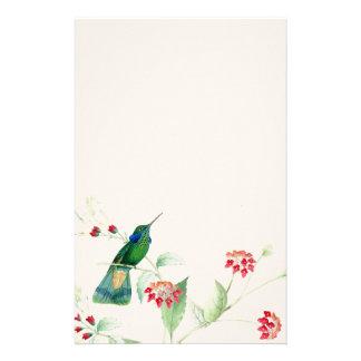 Animaux floraux de faune de fleurs d'oiseaux de papeterie