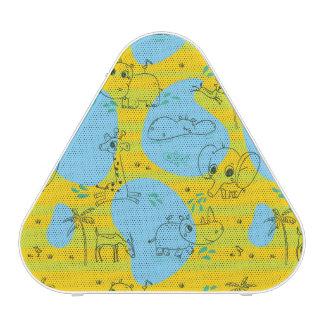 Animaux jouant l'arrière - plan de motif de bébé haut-parleur bluetooth