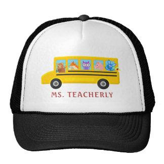 Animaux mignons de chauffeur de professeur ou de casquette de camionneur
