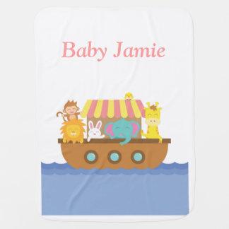 Animaux mignons, l'arche de Noé, pour des bébés Couvertures Pour Bébé
