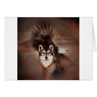 animaux, nature de faune, cadeaux, aigle de loup cartes