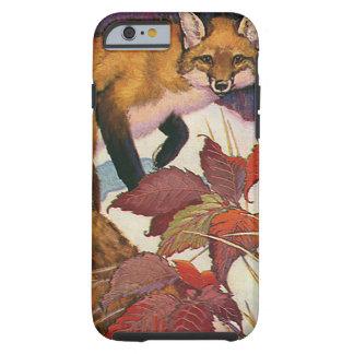 Animaux sauvages vintages, créature de forêt, Fox Coque iPhone 6 Tough