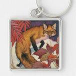 Animaux sauvages vintages, créature de forêt, Fox  Porte-clef