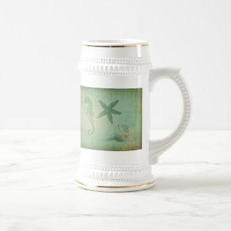 Animaux vintages et coquillages d'océan mug