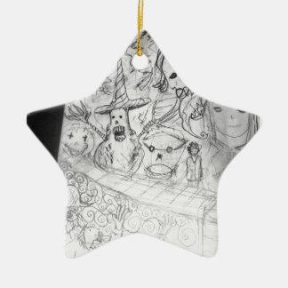 anime de manga de monstre de yaie ornement étoile en céramique