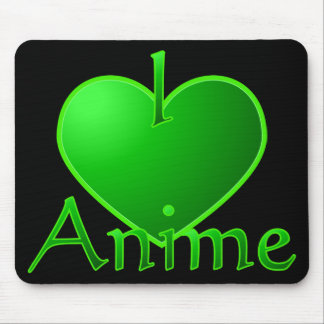 Anime électrique Mousepad de coeur du vert I Tapis De Souris
