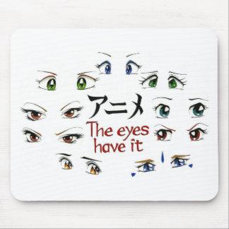 Anime : Les yeux l'ont Tapis De Souris