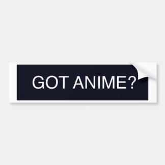 Anime obtenu ? autocollant pour voiture