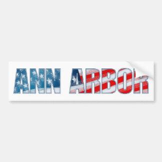 Ann Arbor Autocollant De Voiture