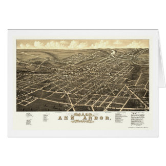 Ann Arbor, carte panoramique de MI - 1880