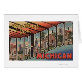 Ann Arbor, Michigan - grandes scènes de lettre Carte De Vœux