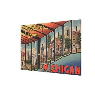 Ann Arbor, Michigan - grandes scènes de lettre Toiles Tendues Sur Châssis
