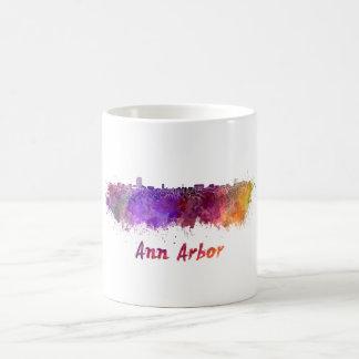 Ann Arbor skyline in watercolor Mug