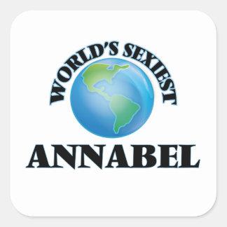 Annabel le plus sexy du monde autocollants carrés