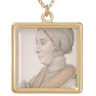 Anne Boleyn (1507-36) gravé par Francesco Bartol Pendentif Carré