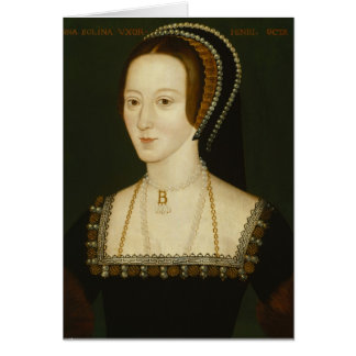 Anne Boleyn - carte de voeux vierge