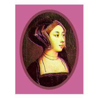 Anne Boleyn - carte postale de femme