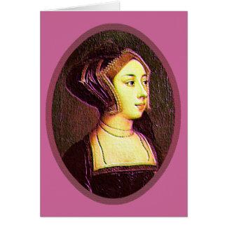 Anne Boleyn - carte vierge de femme