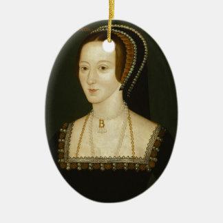 Anne Boleyn Ornement Ovale En Céramique