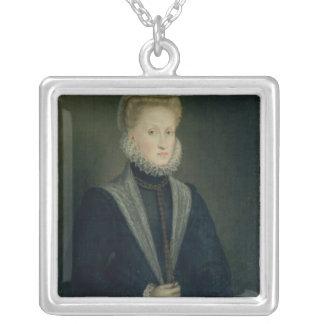 Anne de l'Autriche, reine de l'Espagne Pendentif Carré
