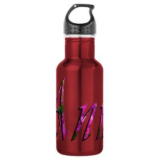Anne, nom, logo, bouteille d'eau réutilisable de