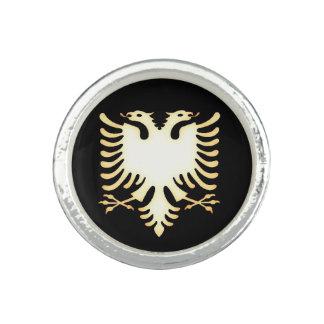 Anneau albanais d'aigle bague avec photo