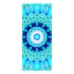 Anneau bleu d'ange de glace, mandala abstrait invitations