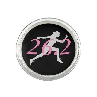 Anneau de marathon, cadeau pour le coureur, 26,2 bague